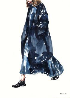 kasiq Fashion Illustration Series 5 on Behance Watercolor Fashion, Fashion Painting, Fashion Studio, Fashion Art, Fashion Design, Photographie Portrait Inspiration, Pretty Drawings, Pose, Woman Illustration