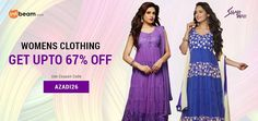 """Use Coupon Code AZADI26 & Get Up To 67% OFF on """"SHAH WAH"""" Brand Women's Clothing !  #ShahWah #WomensClothing #WomensWear #Clothing #Offer #CouponCode #Discount"""
