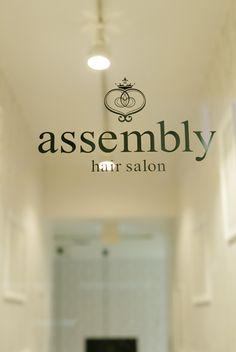 Beauty salon interior design ideas | + hair + space + decor + designs + Tokyo + Japan | Follow us on https://www.facebook.com/TracksGroup <<<【assembly サイン】 美容室 内装
