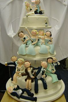 The Wedding Party cake...HAHAH I mean when one of our friends get married technically so do all her friends...lol