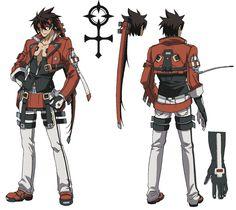 View an image titled 'Sol Badguy Art' in our Guilty Gear Vastedge XT art gallery featuring official character designs, concept art, and promo pictures. Game Character Design, Character Creation, Character Development, Character Design References, Character Concept, Character Art, Video Game Characters, Fantasy Characters, Guilty Gear Xrd