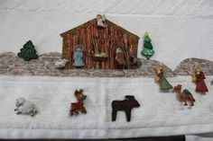 Feliz Navidad ,  hoy  les comparto  esta linda toalla decorada con  botones Gingerbread, Elsa, Christmas Crafts, Ornaments, Painting, Liliana, Towels, Punch, Appliques