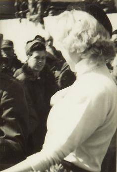 Marilyn at Brady Airbase, Japan, 1954.