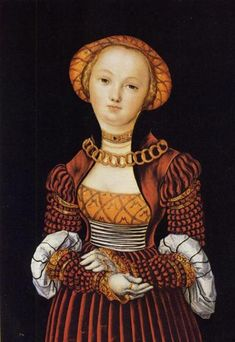 Magdalene von Sachsen - Lucas Cranach the Elder  Looks at all the slashing on her sleeves! oooooooo