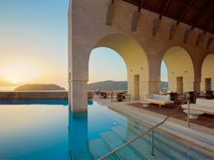 Book your escape at Blue Palace, a Luxury Collection Resort and Spa, Crete. Our exclusive Crete hotel offers luxury accommodations & unmatched experiences. World's Most Beautiful, Beautiful Hotels, Beautiful Sunset, Places To Travel, Places To Visit, Travel Destinations, Travel Deals, Beach Resorts, Hotels And Resorts