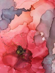 detail of fiction ink mixed media resin abstract art by north carolina artist amanda moody