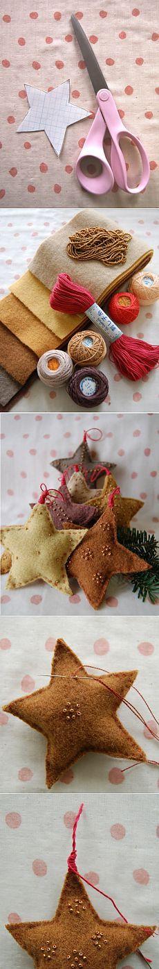 Cómo hacer una estrella de Navidad / KNITLY.com - blog sobre la costura
