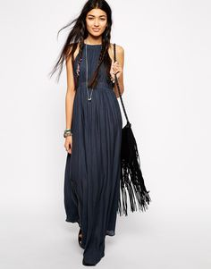 Free People brand caught in the moment maxi dress