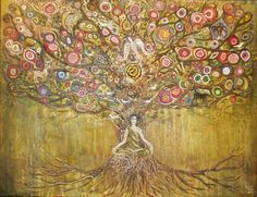 Abstract, painting. Meditation. Tree of Life.