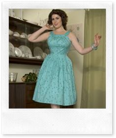 Fit and Flare Summer Dress   bettie page plus size fit and flare dress 2012