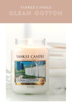 Imagine aquele aroma da sua roupa acabada de lavar...tão bom!!! A fragrância Clean Cotton da Yankee Candle é tal e qual esse aroma...experimente e confira.