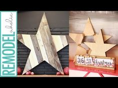 Remodelaholic | Easy DIY Wooden Christmas Stars, 3 Different Ways, from One Board