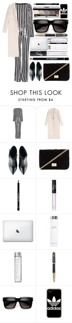 """Marc Jacobs Sequin Striped Jumpsuit"" by itaylorswift13 ❤ liked on Polyvore featuring Marc Jacobs, Acne Studios, Kim Kwang, Forever 21, Givenchy, NARS Cosmetics, Calvin Klein, Parker, adidas and Bobbi Brown Cosmetics"