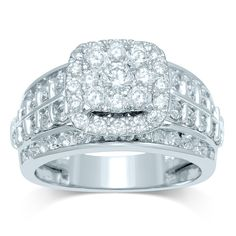9ct White Gold 2.00ct Diamond Ring