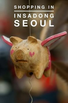 Shopping for Artisan Crafts and travel souvenirs in Insadong, Seoul Korea.