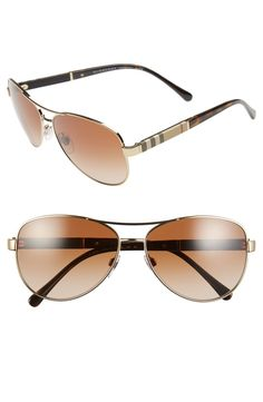 Burberry 59mm Aviator Sunglasses available at #Nordstrom