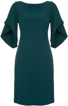 Milly ruffle sleeve midi dress The post Milly ruffle sleeve midi dress appeared first on Dress. Casual Cocktail Dress, Designer Cocktail Dress, Elegant Dresses, Beautiful Dresses, Midi Dress With Sleeves, Ruffle Sleeve Dress, Classy Dress, Ladies Dress Design, Dress Patterns