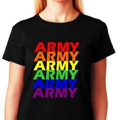 Army Pride_LGBTQ Army Pride in Vertical Rainbow by ALLGayTees