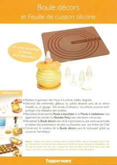 Feuille silicone boule décors 1/2 - Tupperware
