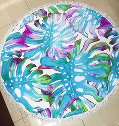 Large Microfiber Printed Round Beach Towel