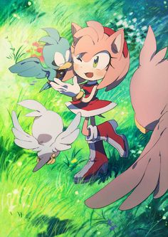 Reunion by aoki6311.deviantart.com on @deviantART It's Amy and Lily from Sonic X with her family :)