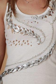DIY: personalizar una camiseta con cintas de lazo