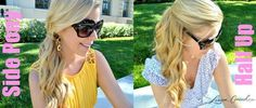 hair ideas for sorority recruitment: side pony or half-up