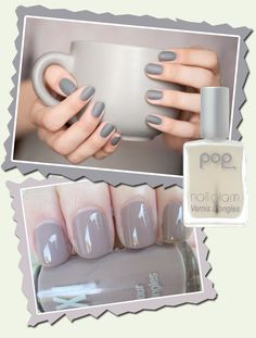 We love a grey mani – it's the perfect combo of edgy and business! Works for work, works for play! #grey #nails