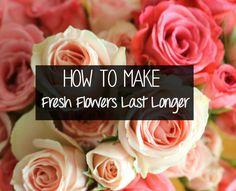 How to make fresh flowers last longer! #DIY #HomeDecor