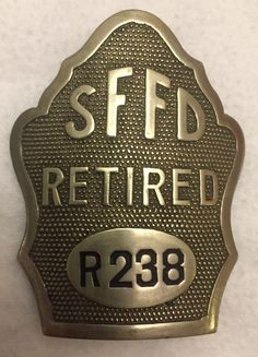 San Francisco Fire Department, SFFD Badge - 1920