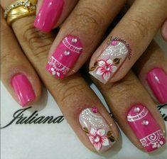Ideas for nails sencillas verano Light Nail Polish, Nail Polish Art, New Nail Art, Nails Now, Green Nails, Purple Nail, Trendy Nail Art, Hot Nails, French Nails