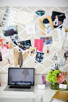 Love this home office! Office Ideas 10 Organised Home Office Ideas Cute office Style At Home, Style Blog, Inspiration Boards, Room Inspiration, Workspace Inspiration, Interior Inspiration, Moodboard Inspiration, Desk Inspo, Furniture Inspiration