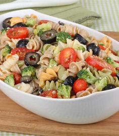 Recipe for Rainbow Rotini Broccoli Salad - Here is a colorful, tasty pasta salad that is easy to make. It is the perfect side at any BBQ or picnic.