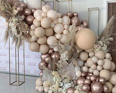 Champagne Balloons, Rose Gold Balloons, White Balloons, Wedding Balloons, Latex Balloons, Balloon Arch, Balloon Garland, Ballons D'or, Décoration Rose Gold