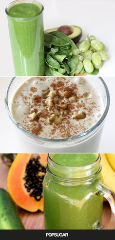 Your Weight-Loss Prescription: Make 1 of These smoothies For Breakfast - fruit, veggies, dairy, yogurt, healthy, high protein and fiber. lj