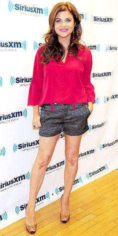 TIFFANI THIESSEN photo   Tiffani Thiessen pink top