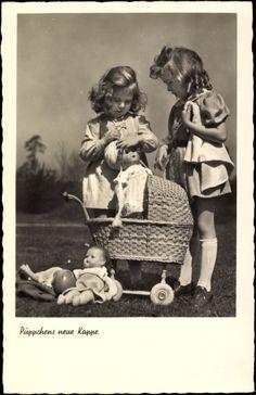 MY DOLLY & ME~Ak Püppchens neue Kappe, Zwei Mädchen spielen mit Puppen, Puppenwagen | eBay