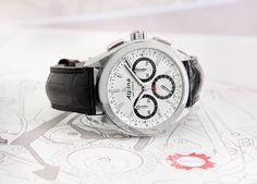 Swiss Watch Brand Alpina Unveil The 'Alpiner 4 Flyback Chronograph' At Baselworld 2015 Modern Watches, Fine Watches, Sport Watches, Luxury Watches, Cool Watches, Watches For Men, Alpina Watches, Swiss Watch Brands, Mens Gadgets