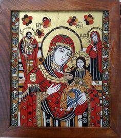 Imagine similară Religious Icons, Orthodox Icons, Sacred Art, Madonna, Christ, Folk, Marvel, Holiday Decor, Glass