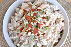 Roasted Potato and Bacon Salad www.freshandhappy.com