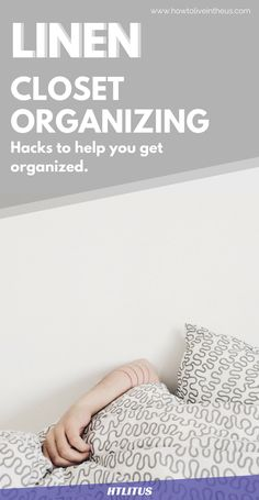 Have a hard time folding your linen sheets? This nifty little hack will help you correctly organize your linen sheets and give it proper space in your closet! www.howtoliveintheus.com