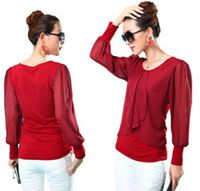 red women bluses