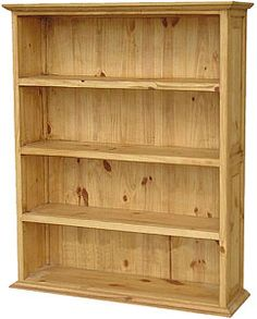 The width and depth of this rustic bookshelf will give you plenty of storage for your books, DVDs, CDs, and videos. The simple lines will blend well with any décor. Since the top is flat you can use it as a fifth shelf for storage or display.  Top it off with potted plants for greenery that makes a home look alive.   LaFuente.com