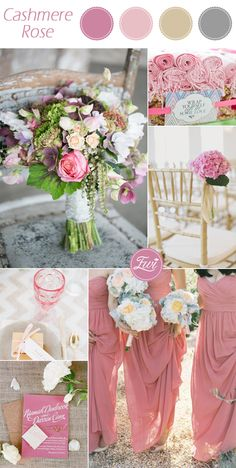 romantic pantone Cashmere Rose pink fall wedding color ideas 2015