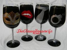 Fifty Shades Wine Glasses