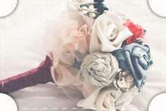 A not-frilly, pretty bouquet. #bridal