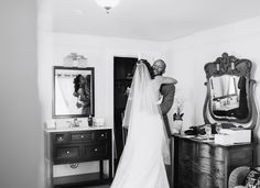 I love seeing the bride's happy face mirror the happiness in the groom's.