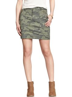 Olive Camo Utility Skirt | Old Navy