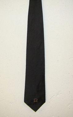 Tommy Hilfiger Mens Black Striped 100% Silk Mens Dress Neck Necktie Tie 58in #TommyHilfiger #Tie