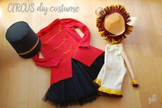 Imagen Ringmaster Costume, Circus Costume, Carnival Costumes, Halloween Costumes, Diy Girls Costumes, Dress Up Costumes, Ballet Costumes, Tutus For Girls, Diy For Girls